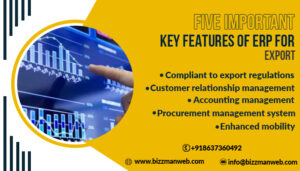 Five important key features of ERP for export